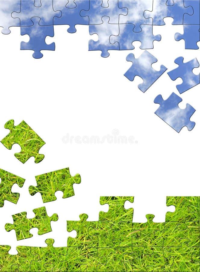 Concetto della natura - puzzle 3d illustrazione di stock