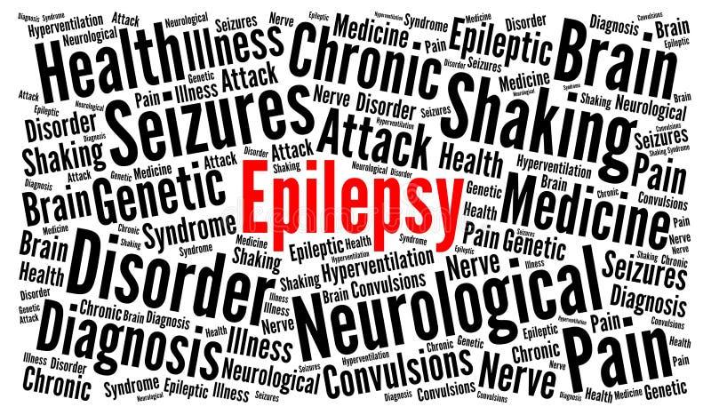 Concetto della nuvola di parola di epilessia illustrazione vettoriale