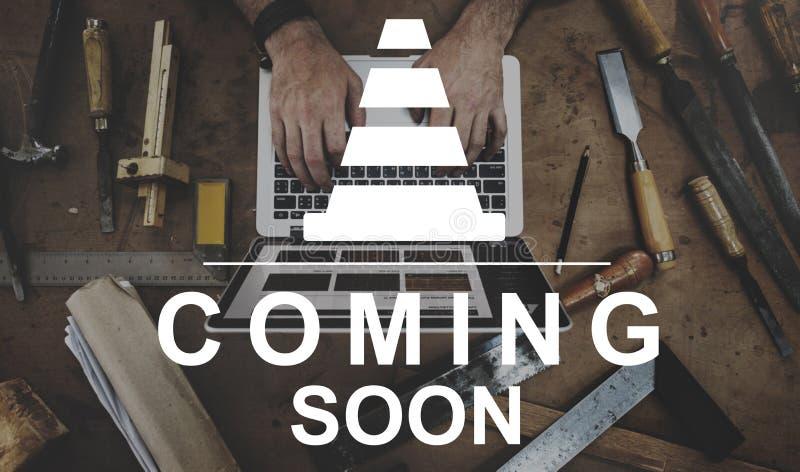 Concetto della pagina Web del sito Web del cuneo del martello della costruzione immagini stock