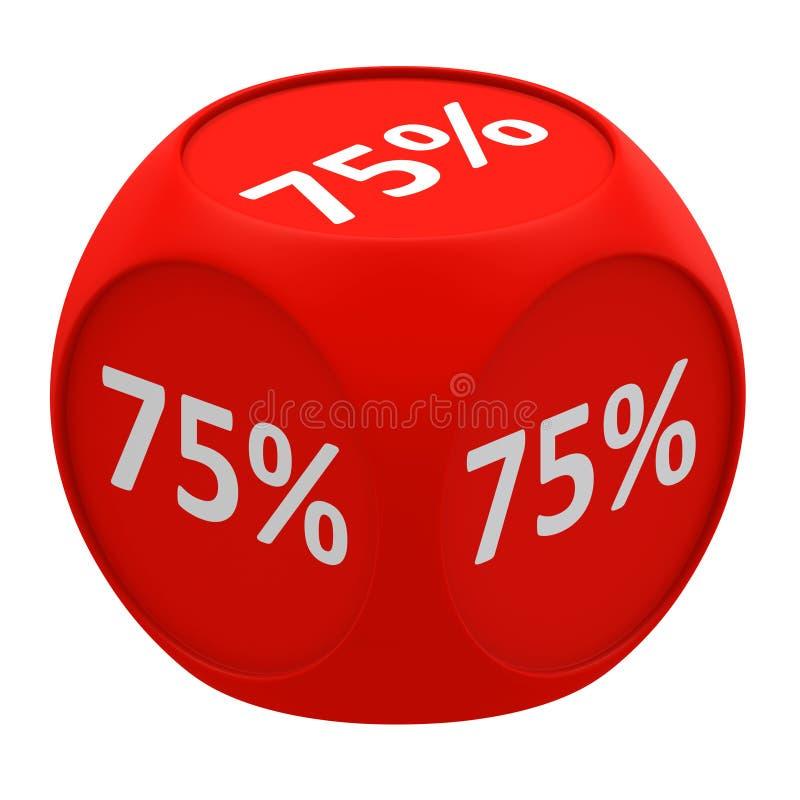 Concetto 60% della piramide di sconto illustrazione di stock