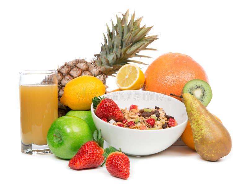 Concetto della prima colazione di perdita di peso con i frutti organici immagine stock libera da diritti