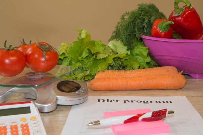 Concetto della prima colazione di perdita di peso della bevanda e dell'alimento con la misura di nastro, Bilancia fotografia stock libera da diritti