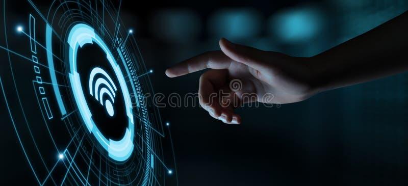 Concetto della radio dei Wi Fi Concetto libero di Internet di tecnologia del segnale della rete di WiFi fotografie stock libere da diritti