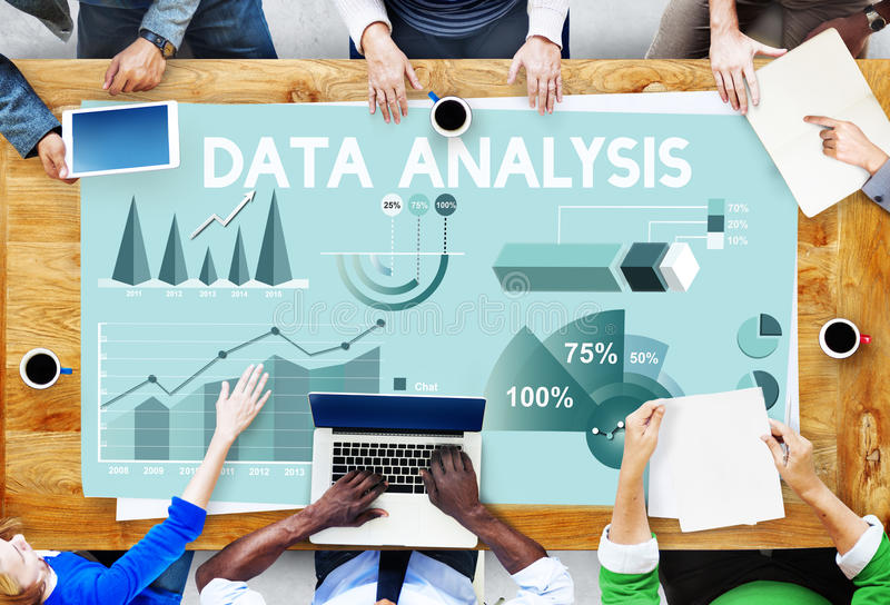 Concetto della relazione di attività di vendita di analisi dei dati immagini stock libere da diritti