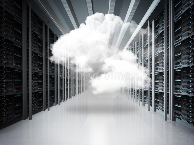 Concetto della rete della nuvola fotografie stock libere da diritti