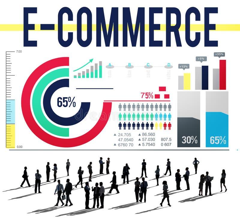 Concetto della rete di vendita di Digital di affari di commercio elettronico illustrazione di stock
