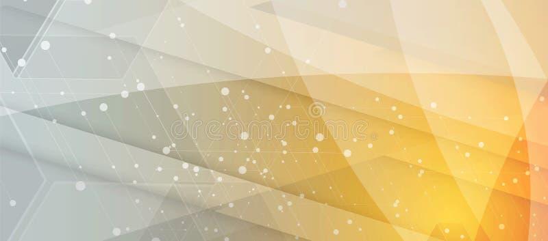 Concetto della rete neurale Cellule collegate con i collegamenti Alto technol royalty illustrazione gratis