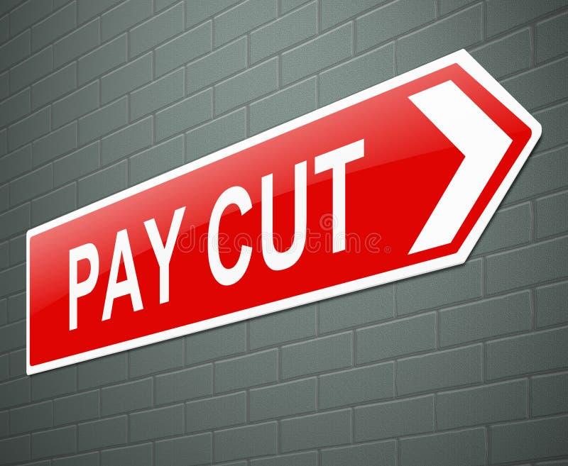 Concetto della riduzione di stipendio. royalty illustrazione gratis