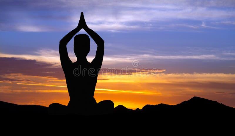 Concetto della ritirata di yoga fotografia stock
