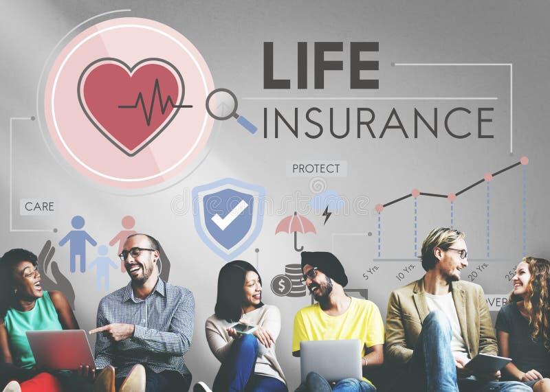 Concetto della salvaguardia del beneficiario di protezione di assicurazione sulla vita fotografie stock