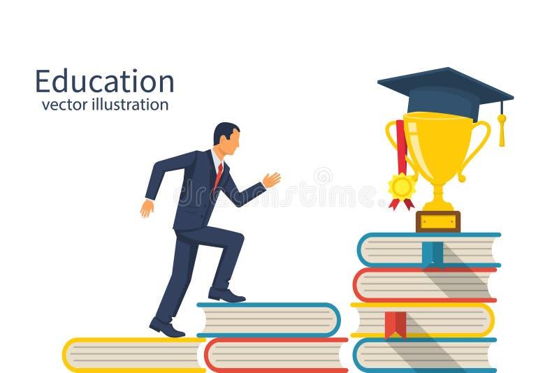 Concetto della scala di istruzione illustrazione vettoriale