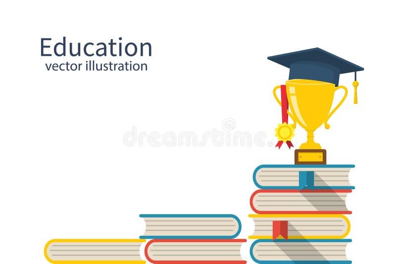 Concetto della scala di istruzione illustrazione di stock
