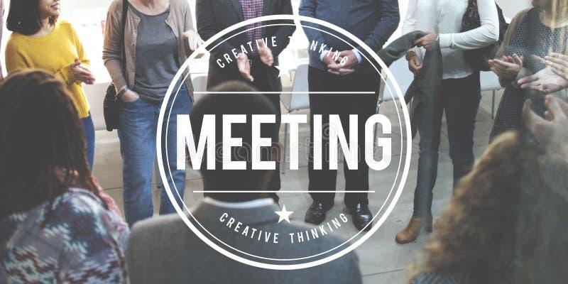 Concetto della sommità di discussione di 'brainstorming' di conferenza di riunione fotografia stock libera da diritti