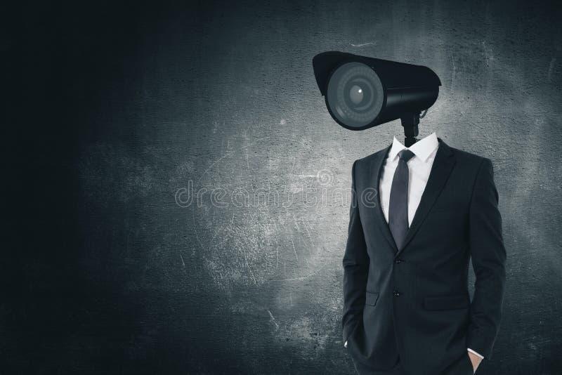 Concetto della spia e di controllo fotografie stock libere da diritti