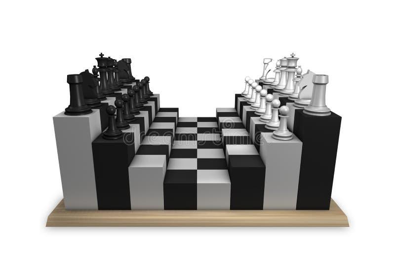 Concetto della tabella di scacchi illustrazione vettoriale