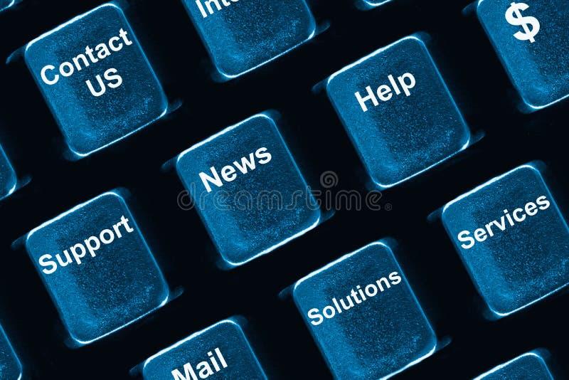 Concetto della tastiera di calcolatore immagine stock