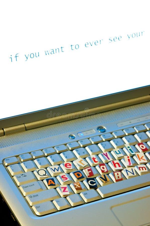 Concetto della tastiera di ricatto fotografie stock libere da diritti