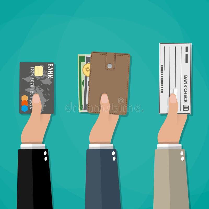 Concetto delle opzioni di pagamento royalty illustrazione gratis