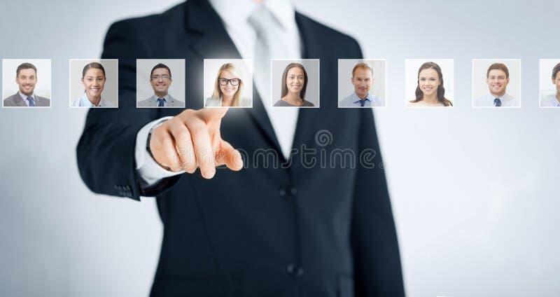 Concetto delle risorse umane, di carriera e di assunzione fotografia stock