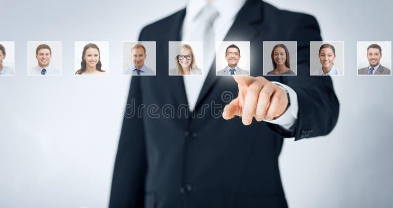 Concetto delle risorse umane, di carriera e di assunzione immagini stock libere da diritti