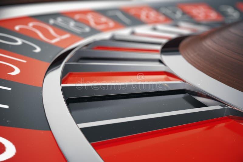 concetto delle roulette del casinò della rappresentazione 3D Tavolo verde in casinò di lusso Gioco delle roulette del casinò royalty illustrazione gratis