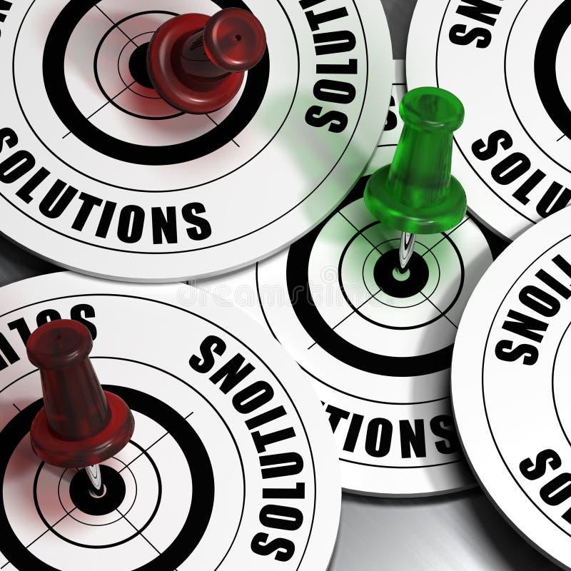 Concetto delle soluzioni di affari illustrazione di stock
