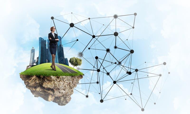 Concetto delle tecnologie wireless moderne come efficace strumento per l'affare immagine stock
