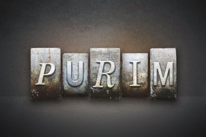 Concetto dello scritto tipografico di Purim immagini stock