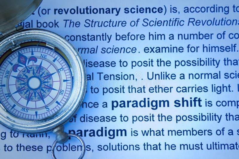 Concetto dello spostamento di paradigma immagini stock
