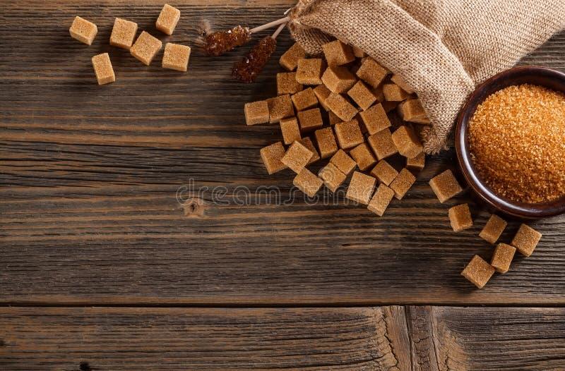 Concetto dello zucchero bruno fotografia stock libera da diritti