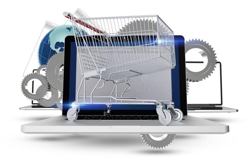 Concetto di acquisto di Internet illustrazione vettoriale