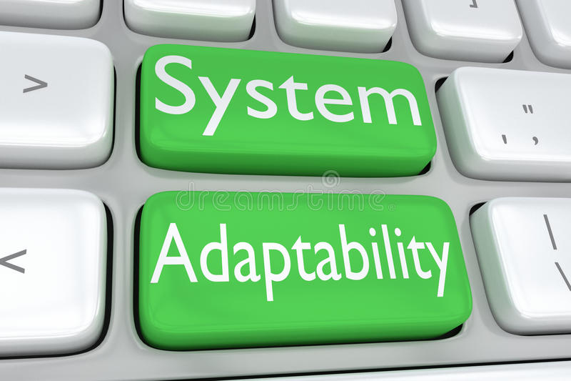 Concetto di adattabilità di sistema illustrazione di stock