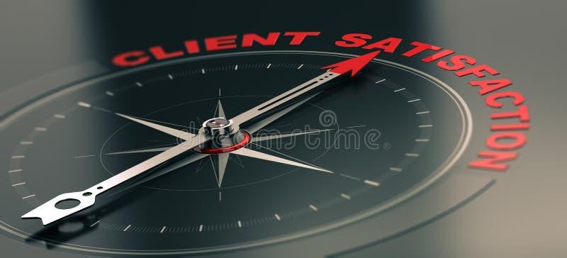 Concetto di addestramento di affari, servizio di assistenza al cliente obiettivo Satisfacti royalty illustrazione gratis