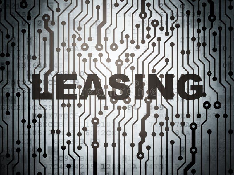 Concetto di affari: circuito con leasing illustrazione vettoriale