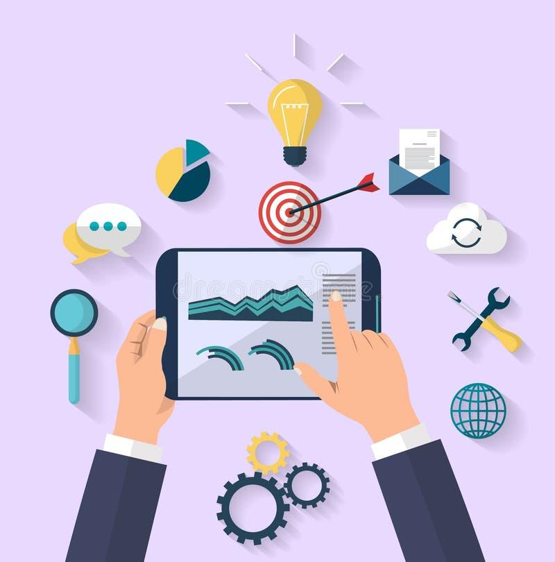 Concetto di affari - concetto del lavoro - progettazione piana illustrazione di stock