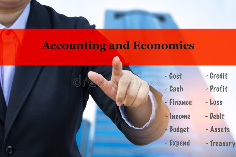 Concetto di affari (contabilità ed economia) immagini stock libere da diritti
