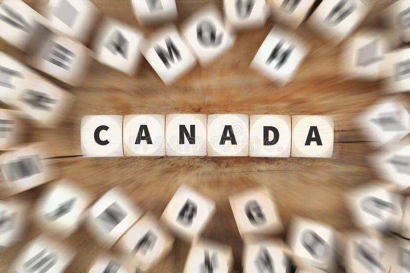 Concetto di affari dei dadi del Canada fotografia stock