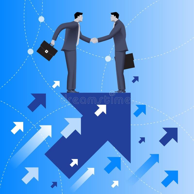 Concetto di affari del beneficio reciproco illustrazione vettoriale