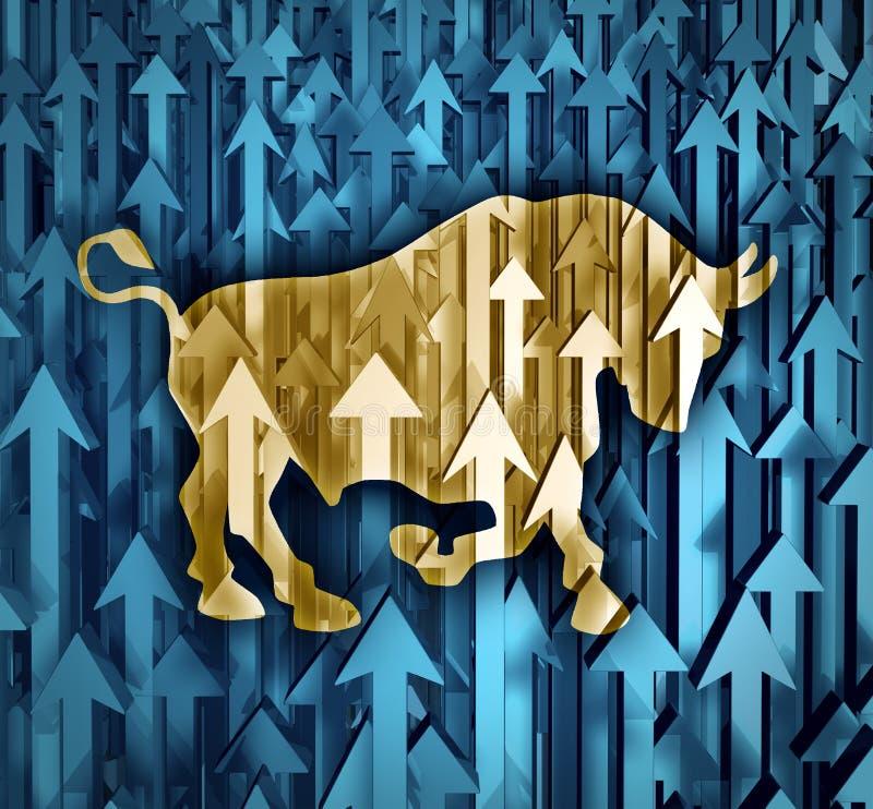 Bull market illustrazione vettoriale