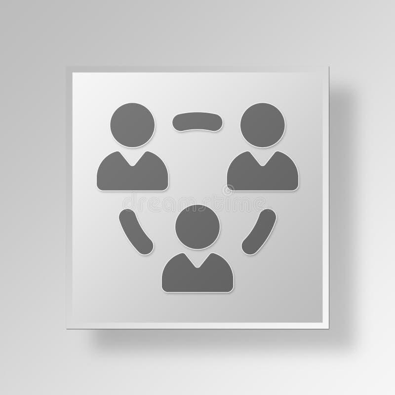 concetto di affari dell'icona del gruppo 3D royalty illustrazione gratis
