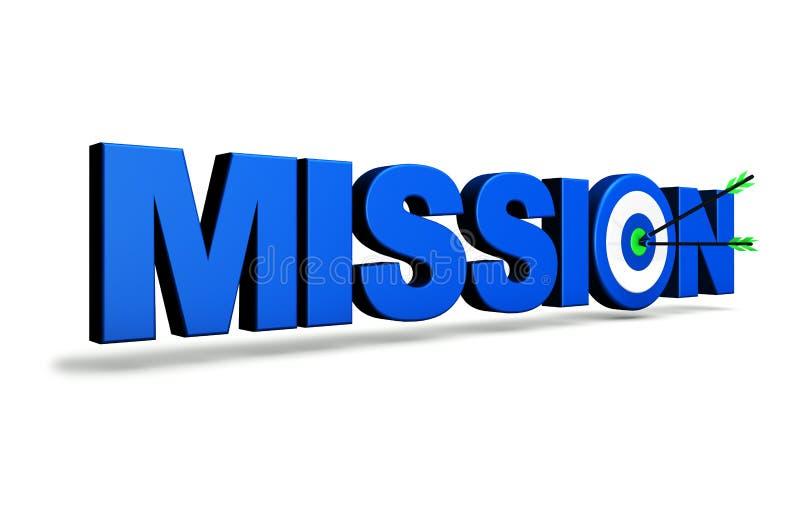 Concetto di affari dell'obiettivo di missione illustrazione di stock