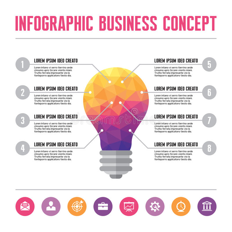 Concetto di affari di Infographic - illustrazione creativa di idea illustrazione di stock