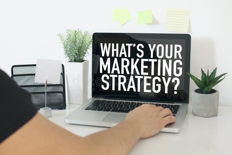 Concetto di affari di strategia di marketing fotografia stock