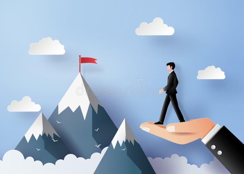 Concetto di affari di visione e del capo illustrazione di stock