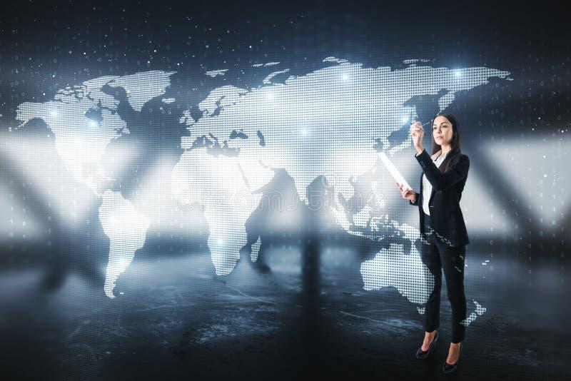 Concetto di affari globali immagini stock