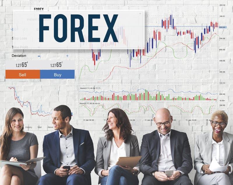 Concetto di affari globali del grafico di borsa valori dei forex fotografia stock libera da diritti