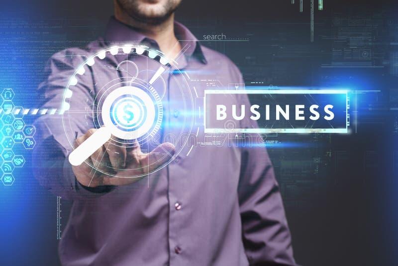 Concetto di affari, di tecnologia, di Internet e della rete Giovane busine immagini stock libere da diritti