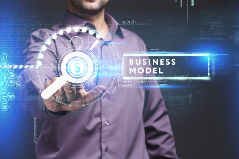 Concetto di affari, di tecnologia, di Internet e della rete Giovane busine fotografie stock