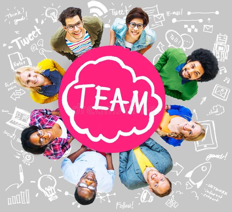 Concetto di aiuto di Team Teamwork Support Collaboration Togetherness fotografie stock libere da diritti