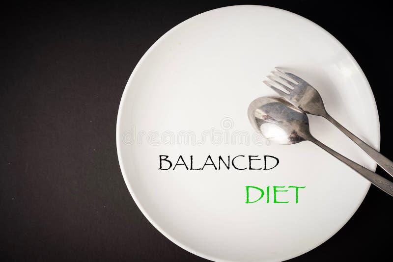 Concetto di alimentazione sano: Alimentazione equilibrata immagine stock libera da diritti